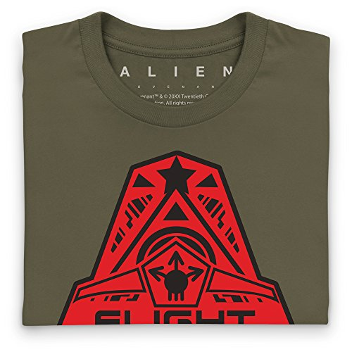Official Alien: Covenant Crew Flight Logo T-Shirt, Herren Olivgrn
