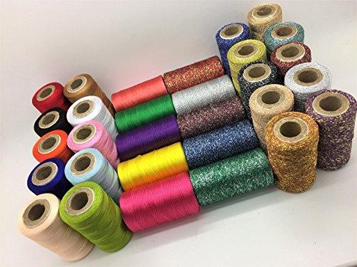 30x grande rayón seda arte 100% coser seda metálico