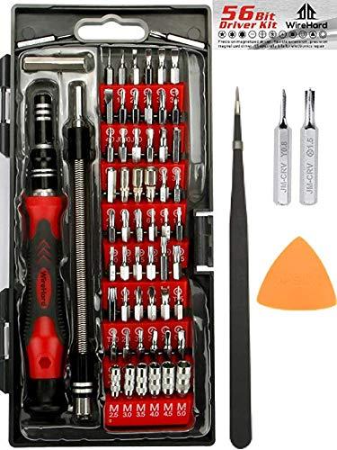 PRÄMIE 62 in 1 Professionell Präzision Schraubendreher Set mit 56 magnetischen Bit Set - Reparatur Werkzeug Kit zum iPhone X, 8, 7, 6 - Handy - Computer - Tablet - Xbox - Play Station - Elektronik