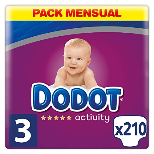 Dodot Protection Plus Activity - Pañales, Talla 3 (6-10 kg), pack de 210