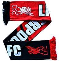 Liverpool Football Club Rojo Negro insignia LFC bufanda de regalo higado Oficial del pajaro
