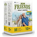 Friends Adult Diaper Basic Limited Edition 102 Not Out 10's Pack (Medium)