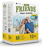 #3: Friends Adult Diaper Basic Limited Edition 102 Not Out 10's Pack (Medium)