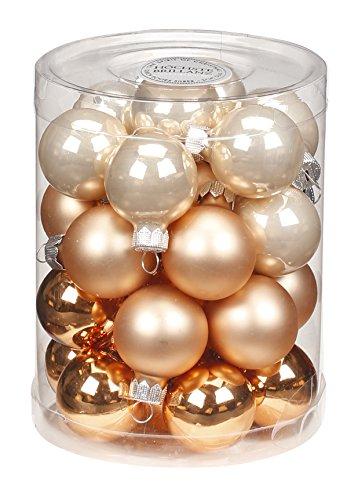 Christbaumkugeln Cappuccino.Inge Glas 15210d001 Mo Glass Mixed Hanger Decoration 9 1 X 9 1 X 11 8 Cm