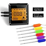 Wireless Meat Thermometer, OUTAD Digital Remote Cooking Food Thermometer Instant Read with 6