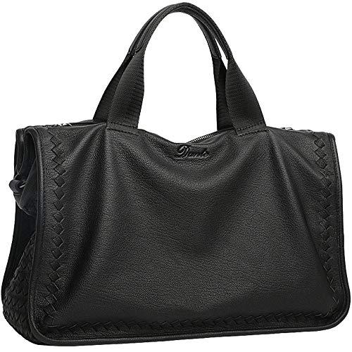 Leder Herren Business Tote Bag Aktentasche Messenger Bag Business Bag 12 Zoll Herren schwarz Laptop Tote -