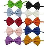 YCNK 10 sortierte Farben Hund-Katze-Welpen Fliege Kragen Krawatte Halsband verstellbar 8-17