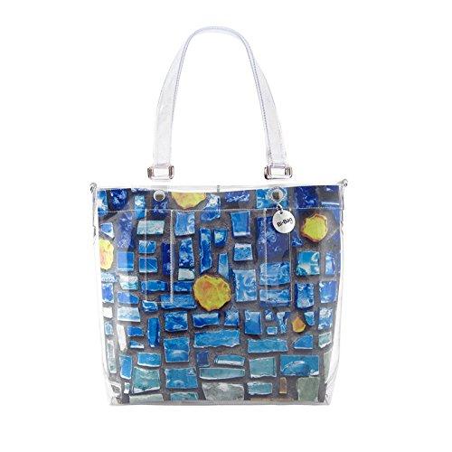 """BI-BAG borsa donna modello EASY """"SUMMER COLLECTION"""" + pochette Multicolore Con Pietre Blu"""