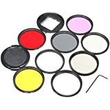 HITSAN 11 In 1 52mm UV CPL ND Filter With Adapter Lens Cap Hex Wrench For Gopro Hero 5 One Piece