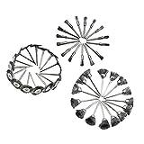 D DOLITY 45 Pz Kit Di Ruota Lucidanti Levigatura Spolveratura Spazzole Pennello Miscelare Acciaio Inossidabile Argento