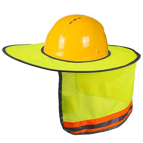 Hard Hat Sun Shade, LUTER Nackenschild Sonnenschirm mit Reflexstreifen und High...