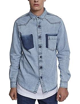 Urban Classic Denim Pocket Shirt, Camicia in Jeans Uomo
