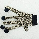 Zrong Haustier-Spielzeug-Katzen-Teaser-Kätzchen-Katze-Leopard-Handschuh Interaktive Spiel Toy 5 Fingers - 2