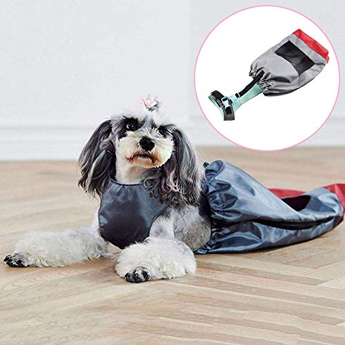 Behinderte Hunde Hinterbeine Erholung Schutztasche, schützen Brust und Gliedmaßen Hund Drag Bag Atmungsaktive gelähmte Pet Walking Drag Bag,XXS -
