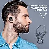 Mini Auricular Bluetooth, VicTsing Auricular Invisible Bluetooth 4.1 y EDR, Manos Libres y Cancelación de Ruido, In Ear Auriculares con Micrófono para Hacer Llamadas en Coche y Oficina etc- Negro