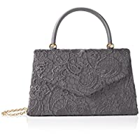 SWANKYSWANS Womens Kendall Lace Smart Elegant Clutch Grey
