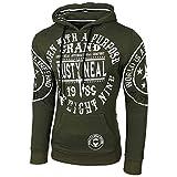 Baxboy Herren Pullover Hoodie Sweatjacke Longsleeve Sweatshirt Jacke Langarm Kapuzenpullover Hoody Sweater 19078, Größe:S, Farbe:Khaki