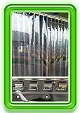 300x3 mm PVC Lamellen Streifen Vorhang H2,50 x B2,50 m Überlappung 36% fertig vormontiert mit Wandschiene+Halteklammern