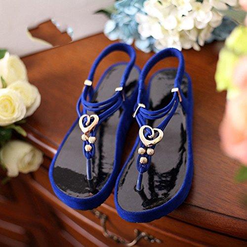 ZAMME , Bride de cheville femme Bleu - Blue 1