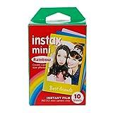 Manyo 10 Feuilles Papier Photo pour Fujifilm Polaroid instax Mini 7 8 25 70 90 Arc en Ciel Dentelle Instant Photo Papier Film d'appareil Photo Polaroid