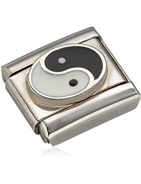 Nomination Damen-Charm Composable Ying Yang Edelstahl Emaille - 330202/14