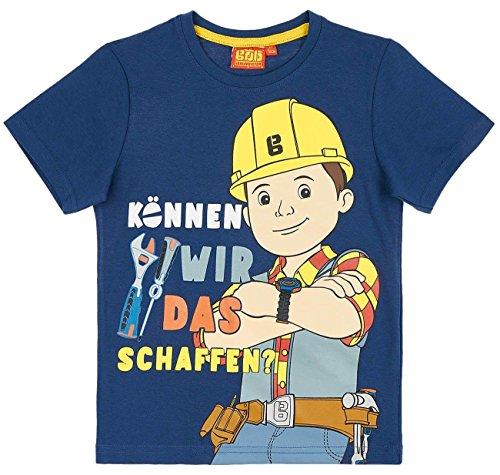 Bob der Baumeister Kollektion 2018 T-Shirt 92 98 104 110 116 122 128 Shirt Jungen Neu Blau (Blau, 104-110; Prime)