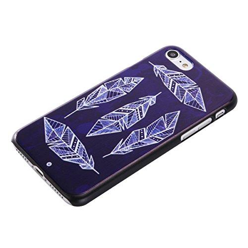 MOONCASE iPhone 7 Plus Coque, Slim Fit Hardshell Back Coque Etui Case Cover pour iPhone 7 Plus [pissenlit] plume