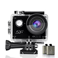 Action Camera, Siroflo Waterproof Sport Action Camera 4K, WiFi Sport Video Camera Ultra HD Sports Camcorder, Underwater Cam with 12MP, 170° Ultra Wide Angle Lens, 2 Rechargeable Batteries, 18 Accessories Kits, Remote Control for Bike/Motorcycle/Skiing/Sur