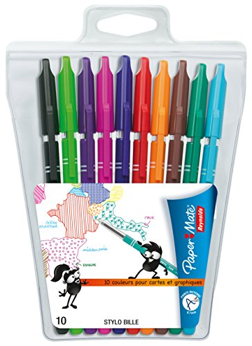 papermate-reynolds-048-stylos-billes-couleurs-assorties-pochette-de-10