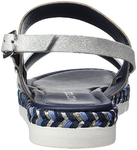 Marco Tozzi Premio 28139, Sandales Bout Ouvert Femme Bleu (Navy Comb 890)