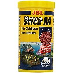 JBL Alleinfutter für fleischfressende Buntbarsche, Sticks 1 l, NovoStick M 30290
