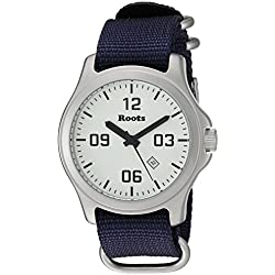 Roots Men's 'Core' Quartz Stainless Steel and Nylon Casual Watch, Color:Blue (Model: 1R-LF400WH7U)