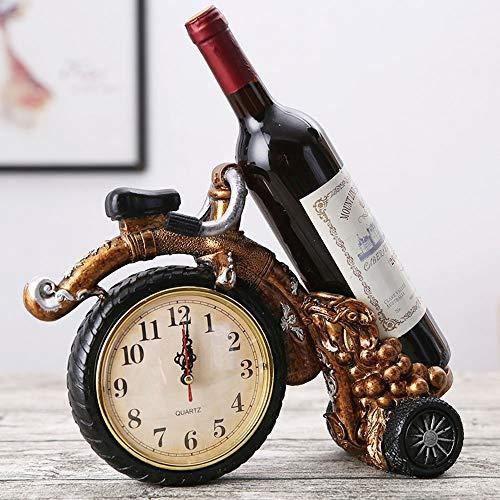 SED Haushalt Weinregal Getränkehalter-Harz Uhren und Uhren Rad Auto Kreative Retro Weinschrank Restaurant Home Wohnzimmer Regal Praktische Weinregal Home Wohnzimmer Regal Kreative Kreative Dekoration