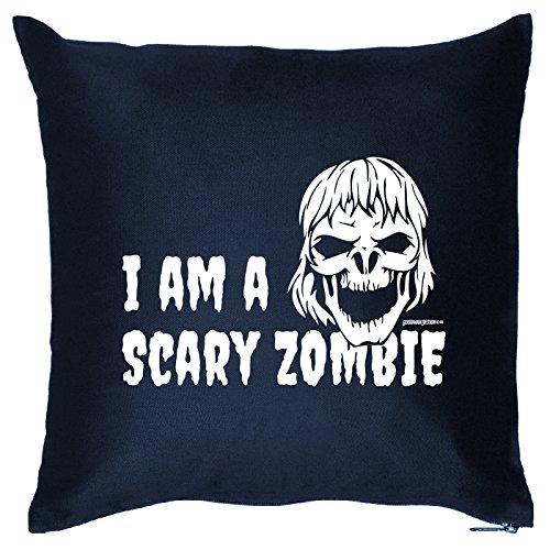 Kissen mit Halloween Motiv: I am a scary Zombie - Halloween Deko für das Wohnzimmer - Couch - Sofa - (Super Scary Kostüme Halloween)