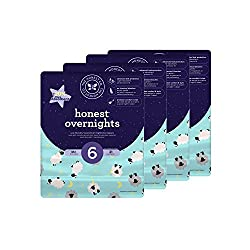 Honest Overnight Baby Diapers, Sleepy Sheep, Size 6, 84 Count