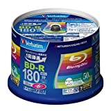 50 Verbatim Blu ray Discs Bd-r 25gb 6x Speed Bluray 3d Blank Media