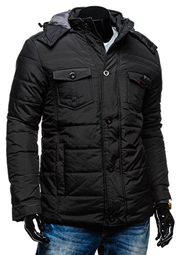 BOLF – Veste à capuche – Fermeture éclair – LA ENERGIA 3293 - Homme Noir