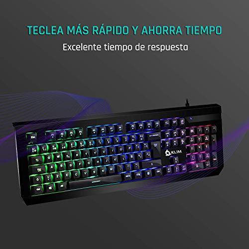 ⭐️KLIMTM Domination - SPAIN - Mechanische RGB - QWERTY - Tastatur - Blaue Tasten - Schneller, präziser,   angenehmer Tastenanschlag - VOLLSTÄNDIGE FREIHEIT BEI DER FARBAUSWAHL PC PS4