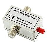 Ligawo 6552200 SAT Kabel Dämpfungsregler (45-2400MHz, 20 dB, F-Buchsen)