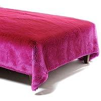 Batteria pelo plaid Mosca Pop Rosa Fibra Sintetico 180x 140cm