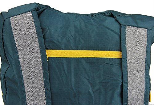 14L Rucksack Tasche Sporttasche Gepäck Hülle Umhängetasche Daypack Bag Handyhalter Geldbeutel Faltbar wasserdicht für Damen Herren und Kindern für wandern, joggern,Bummeln,klettern Blau