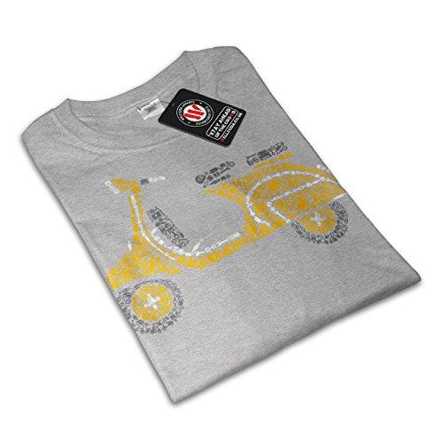 Motorrad Roller Motorradfahrer Damen S-2XL T-shirt | Wellcoda Grey