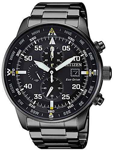 Citizen Herren Chronograph Quarz Uhr mit Edelstahl Armband CA0695-84E