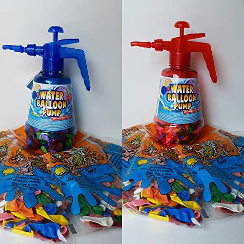 Lhh 2 STK.Wasserballonpumpe Wasserbomben-Füller mit Knotenhilfe Wasserballon Pumpe inkl. Wasserballons 1000 Stück Wasserbombe Pool Badespaß