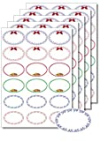 90 Etiketten oval Zierrahmen zum Bedrucken, Beschriften, DIN A4, selbstklebend, Marmeladenetiketten Haushaltsetiketten Gewürzetiketten