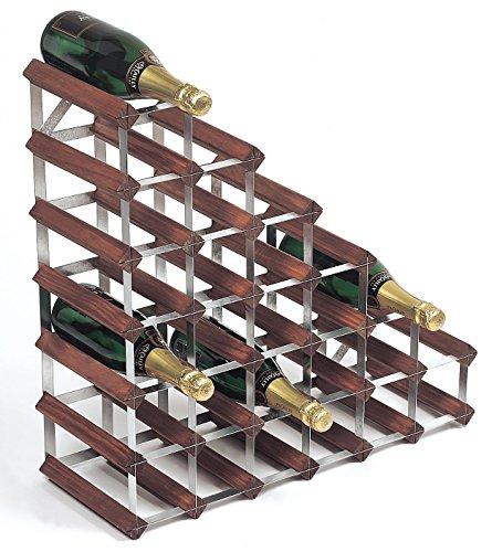 RTA tradicional vino estante de madera natural de...