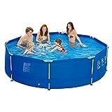 Jilong 6920388626408Kit piscine hors-sol avec pompe à filtre de cartouches, échelle, fond et de bâche Ø 540x 122cm, Sirocco Bleu