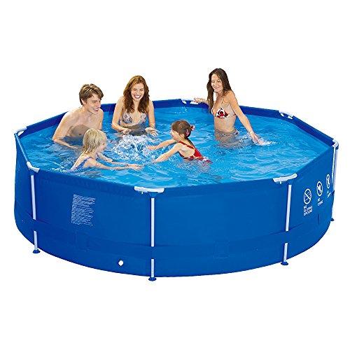 Jilong runder Family Pool Ø 300 x 76 cm Stahlrahmen Schwimmbad Garten Schwimmbecken Familienpool