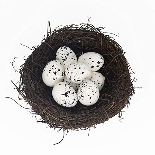 Demiawaking uova di quaglia finte uova di quaglia artificiale di imitazione modello decorazione della casa fai da te puntelli per schizzo dipinto (10pcs)