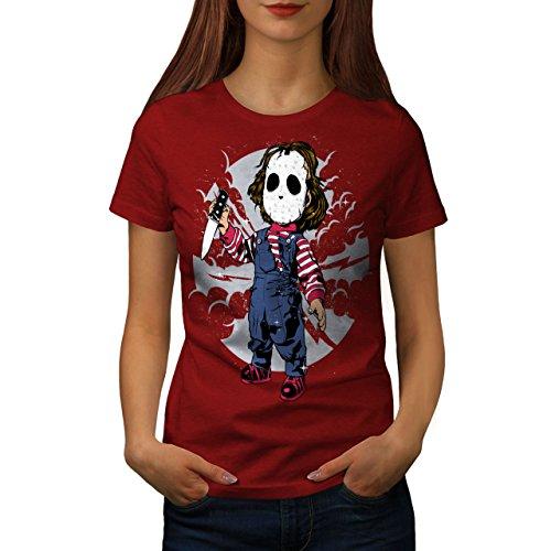 d Frau S T-Shirt (Beängstigend Masken Für Kinder)